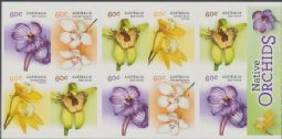 Australia SG4108a Australian Native Orchids self-adhesive booklet pane (SB454) of 10